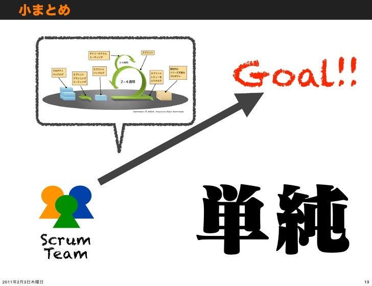 Goal!!               Scrum               Team2011   2   3                    19