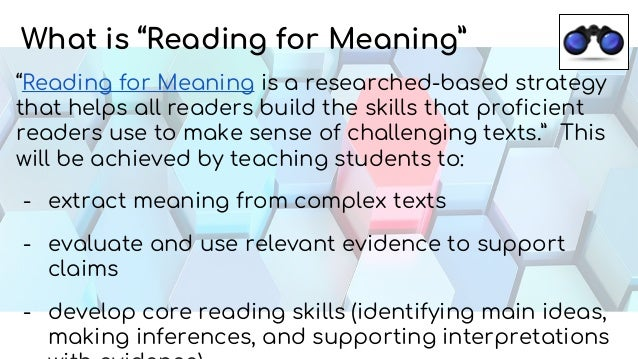 Reading for Meaning Strategies with Subtext and Actively Learn