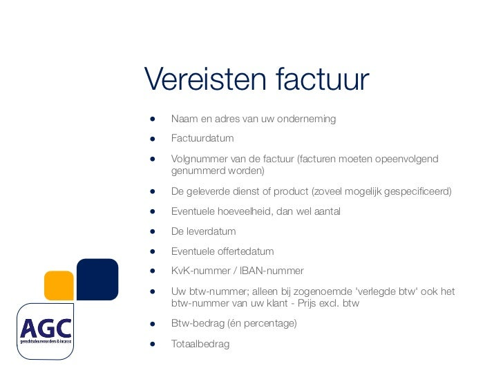 vereisten factuur Let's talk money