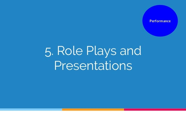 5. Role Plays and Presentations Performance