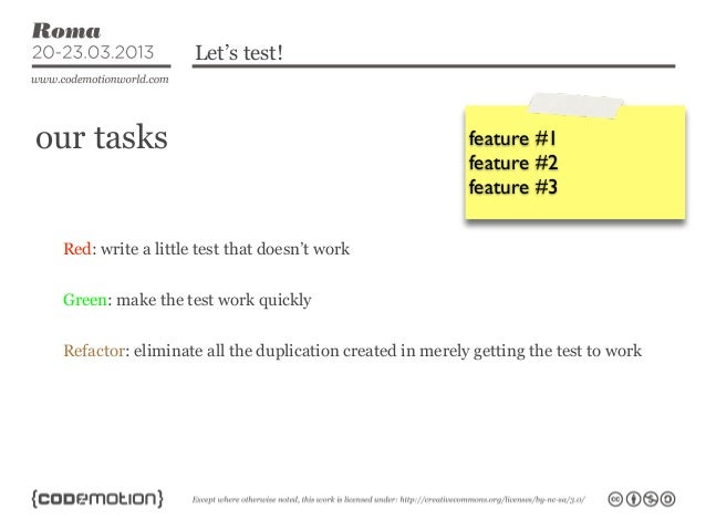 Let's test!our tasks                                                 feature #1                                           ...