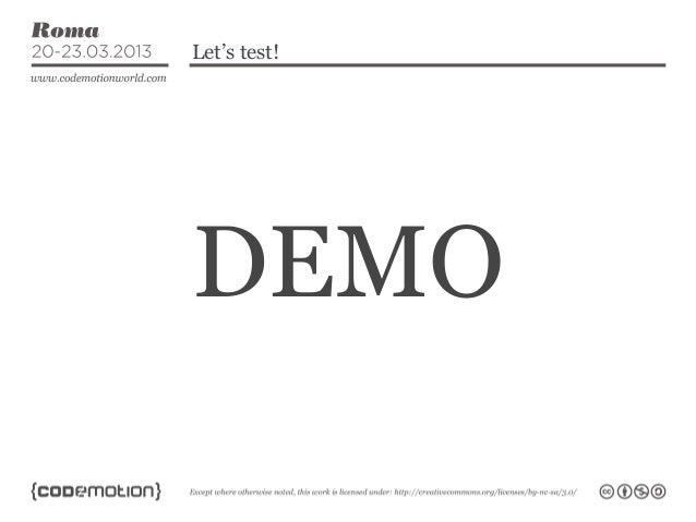 Let's test!DEMO