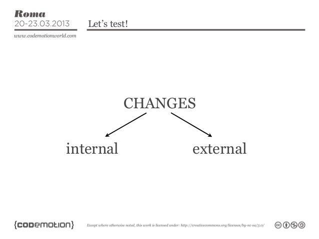 Let's test!            CHANGESinternal          external