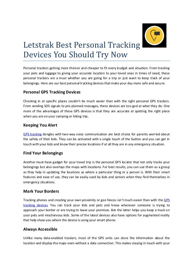 Letstrak Best Personal Tracking Devices You Should Try Now