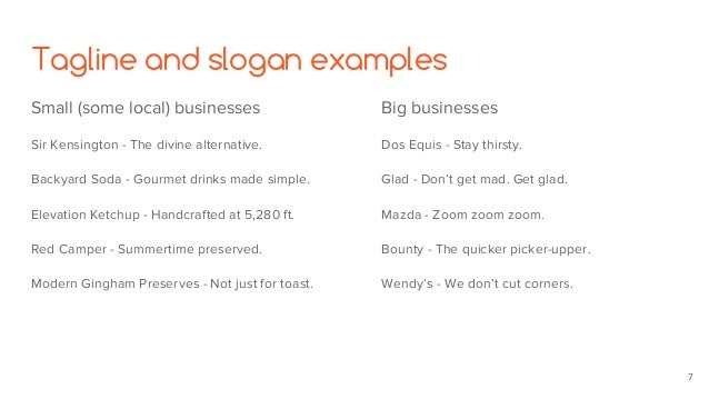 Let's workshop your tagline, slogans, and elevator speech