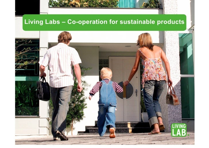 Living Labs – Co-operation for sustainable products