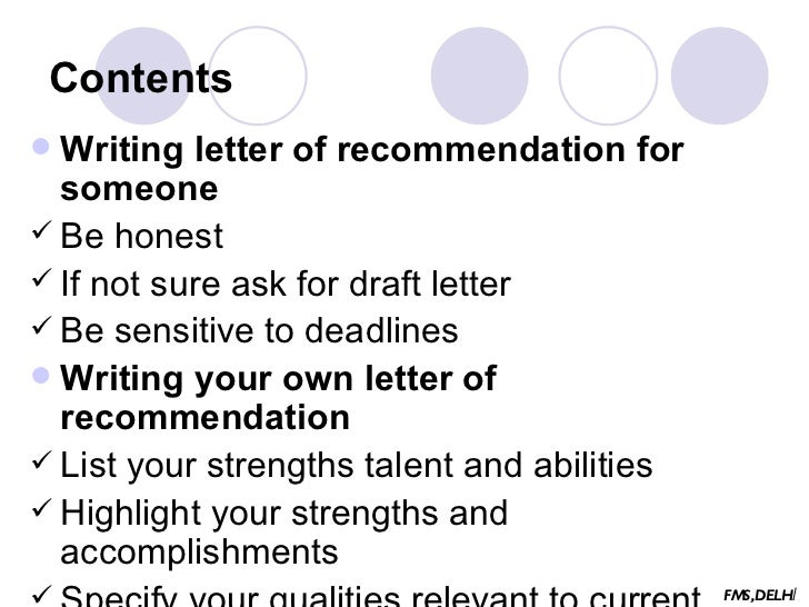 32 contents writing letter of recommendation