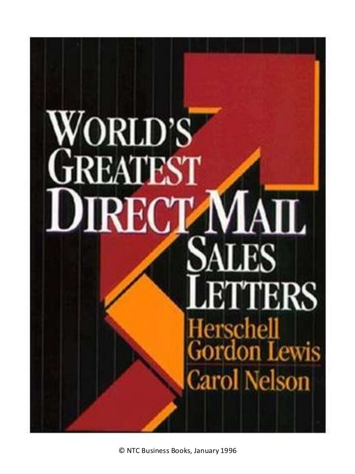 Letter World S Greatest Direct Mail Sales Letters