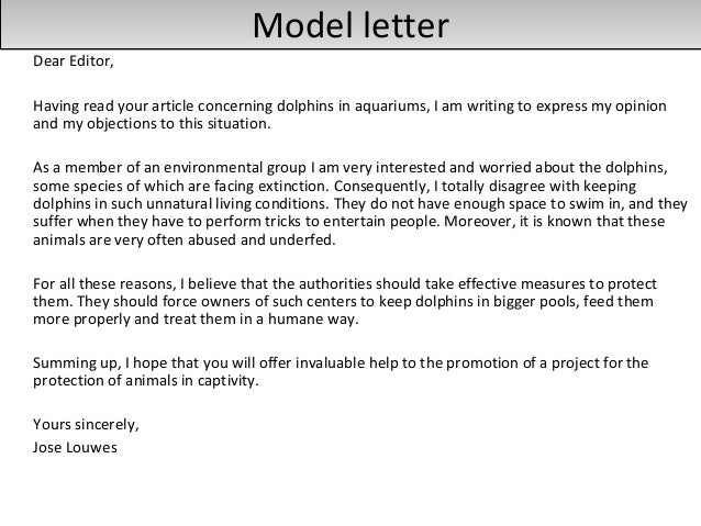 Exceptional ... 17. Model Letter ...
