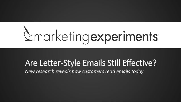 Are Letter-Style Emails Still Effective? New research reveals how customers read emails today