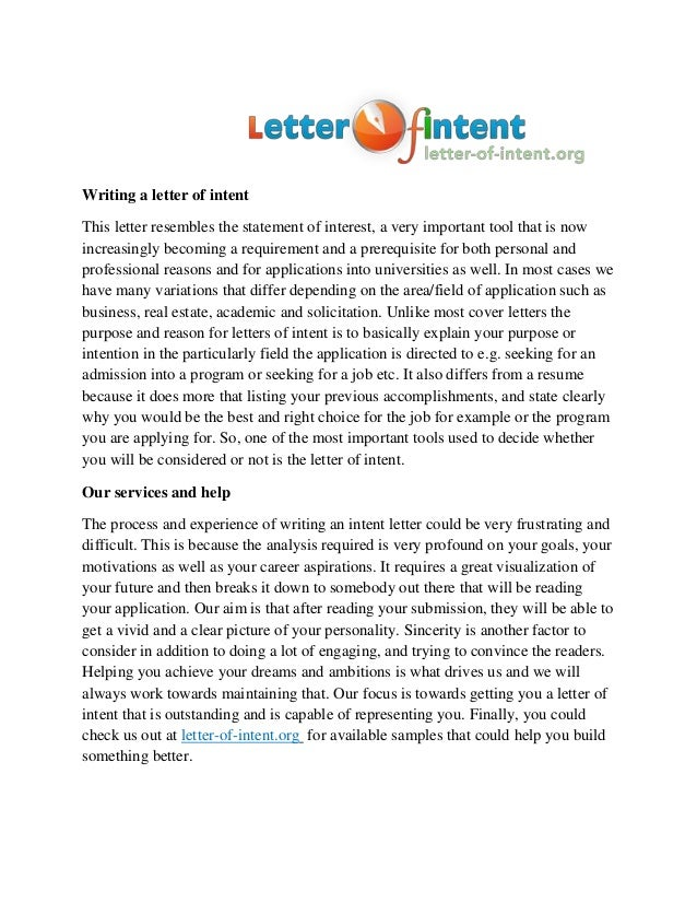 How to Write a Letter of Intent (With Examples)