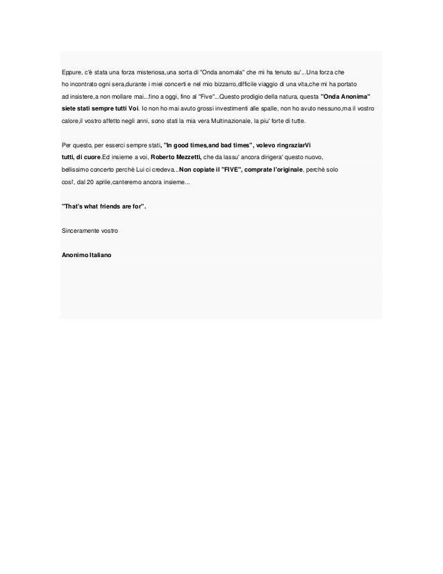 """""""Lettera aperta di un""""illustre Anonimo"""" ai suoi fans"""" Slide 2"""