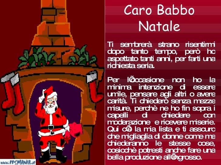 Lettera A Babbo Natale Divertente.Lettera Babbo Natale