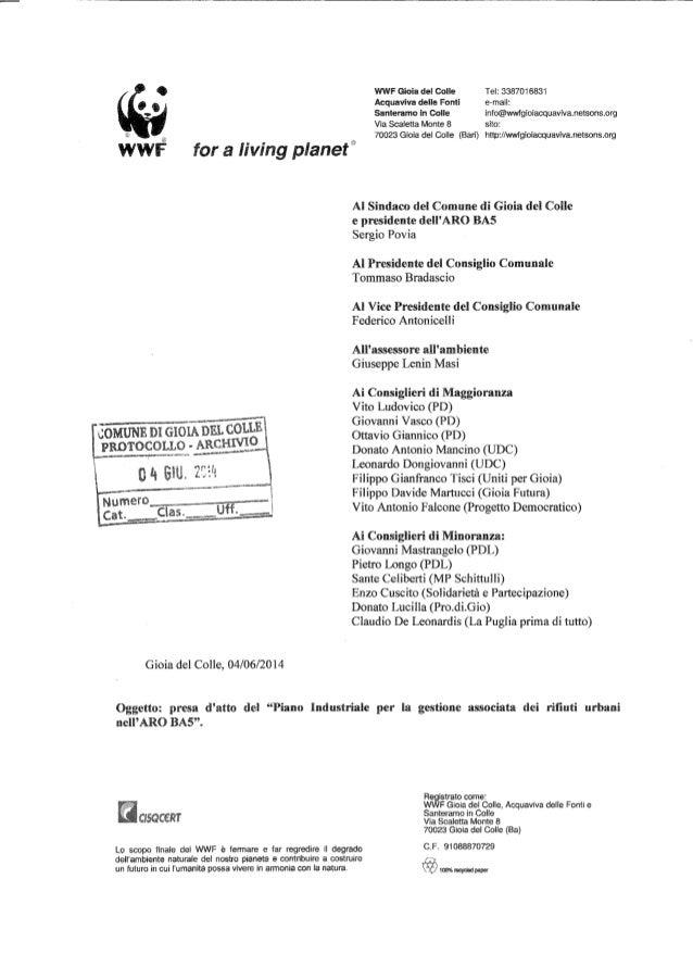 Lettera del wwf_ai_consiglieri