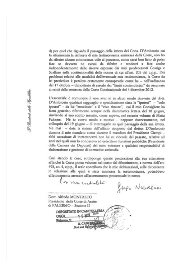 Lettera Napolitano 2