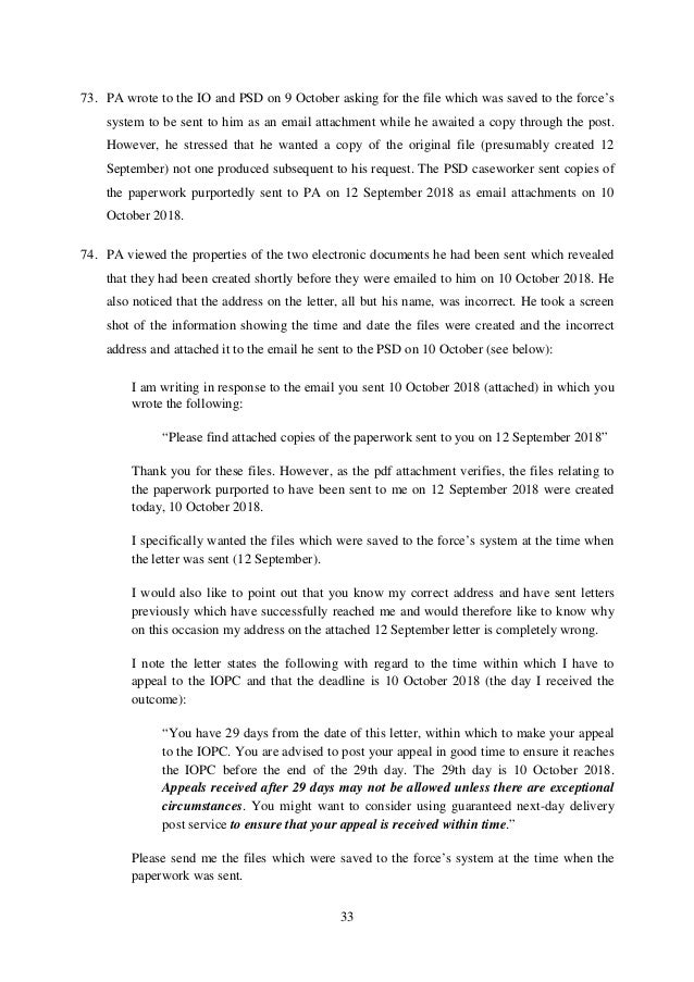 Letter Before Action >> Letter Before Action 26 Sept 2019 R