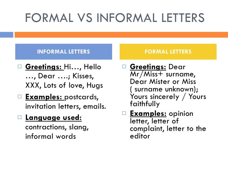 Letter complaint formal vs informal letters thecheapjerseys Images