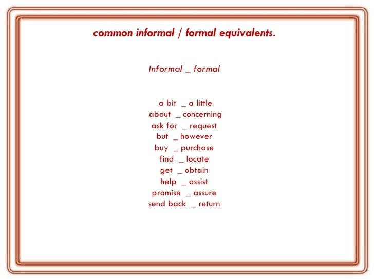 Exceptional (Informal); 4. Common ... Regarding Complaint Words
