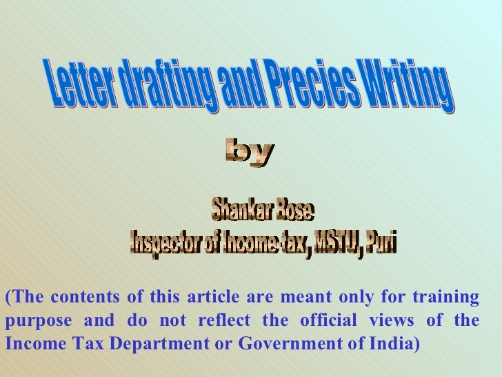 (The contents of this article are meant only for trainingpurpose and do not reflect the official views of theIncome Tax De...