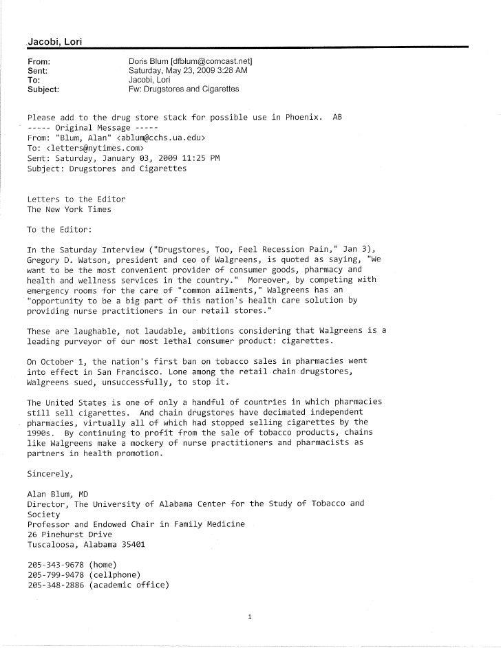 letter editor of ny times jacobi lorifrom doris blum dfblumcomcastnet sent