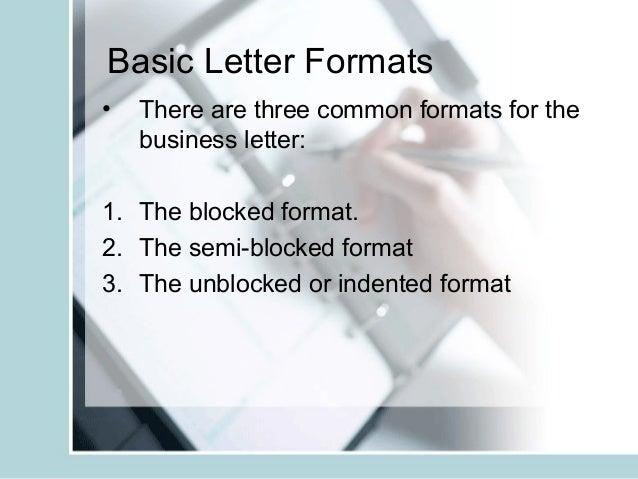 6 basic letter formats