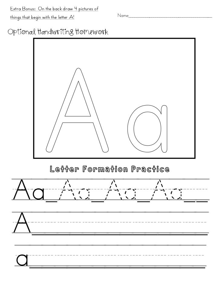 extra bonus on the back draw 4 pictures ofthings that begin with the letter a