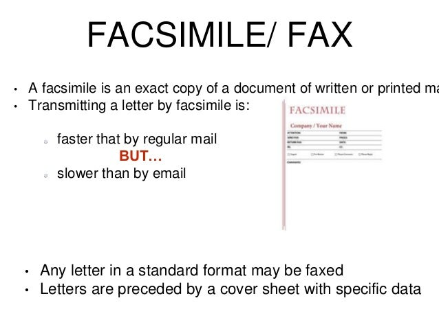 fax letter format