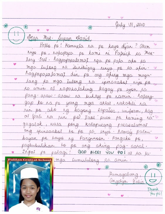 Letter from Angeline