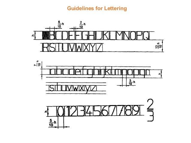 lettering and lines presentation rh slideshare net engineering lettering guidelines 2 4 4 pdf engineering lettering guidelines 2 4 4