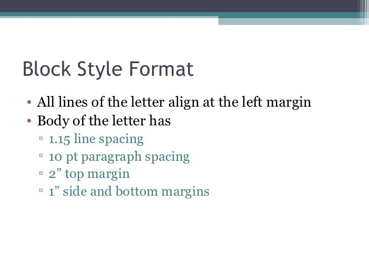 Good Block Style Formatu2022 ...