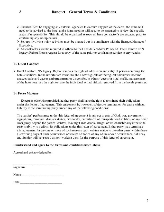External Contractors 4; 5.  Letter Of Agreement