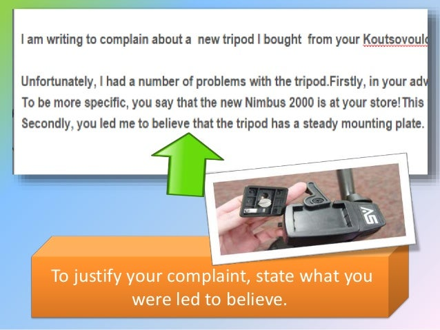 how to write an email media complain