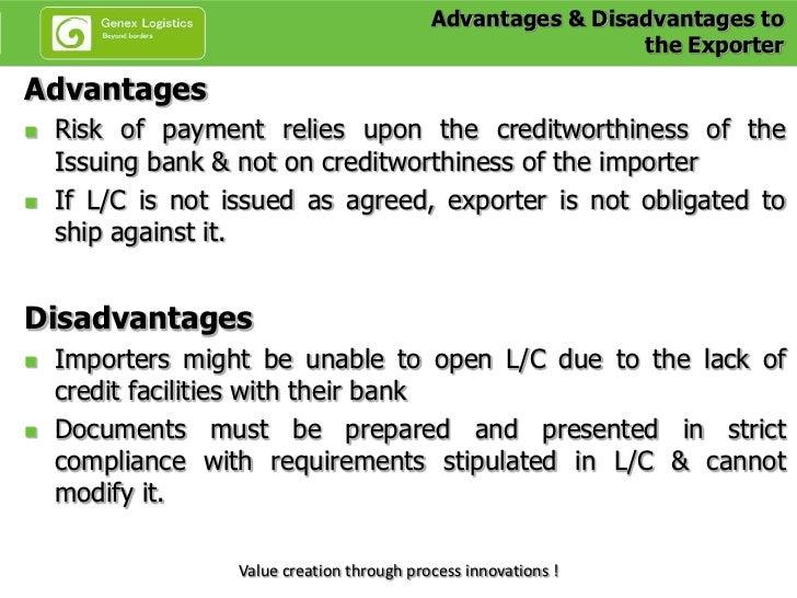 Advantages and dis advantages of credit