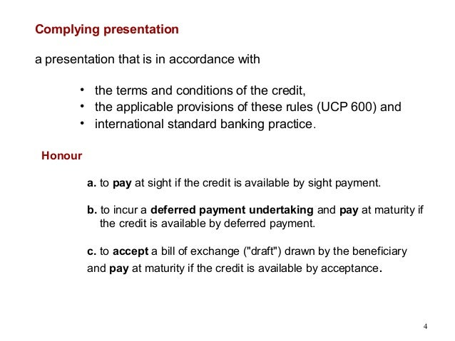 Letter Of Credit Term