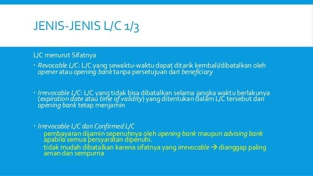 letter of credit 8 638 - Jenis Jenis Lc