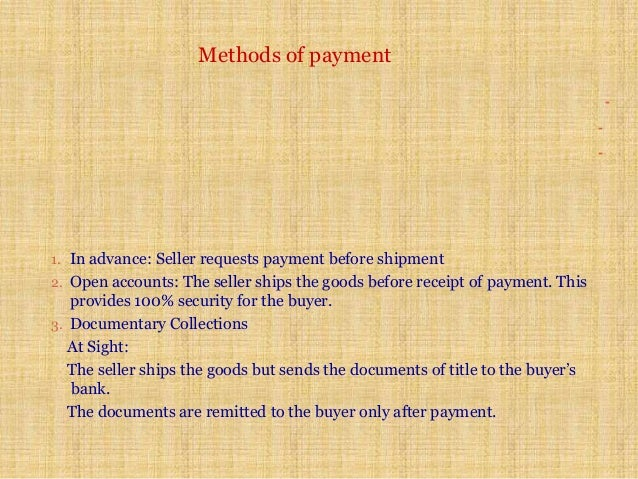 Letter of credit lc seminar – Receipt of Payment Letter