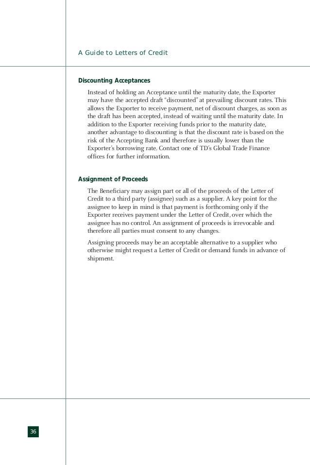 Letter of credit (loc)