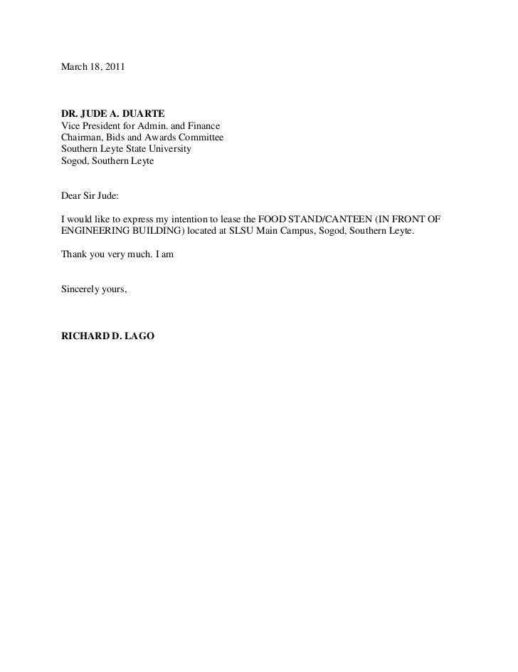 Letter Of Intent. March 18, 2011u003cbr /u003eDR. JUDE A. DUARTEu003cbr  How To Write A Letter Of Intent