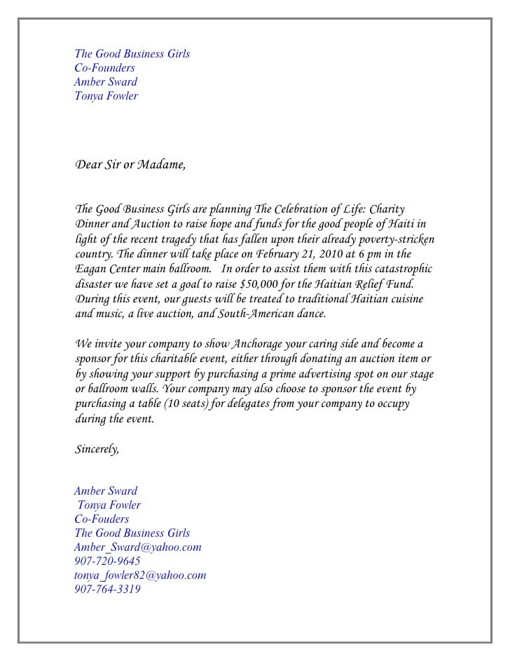Letter Of Invitation