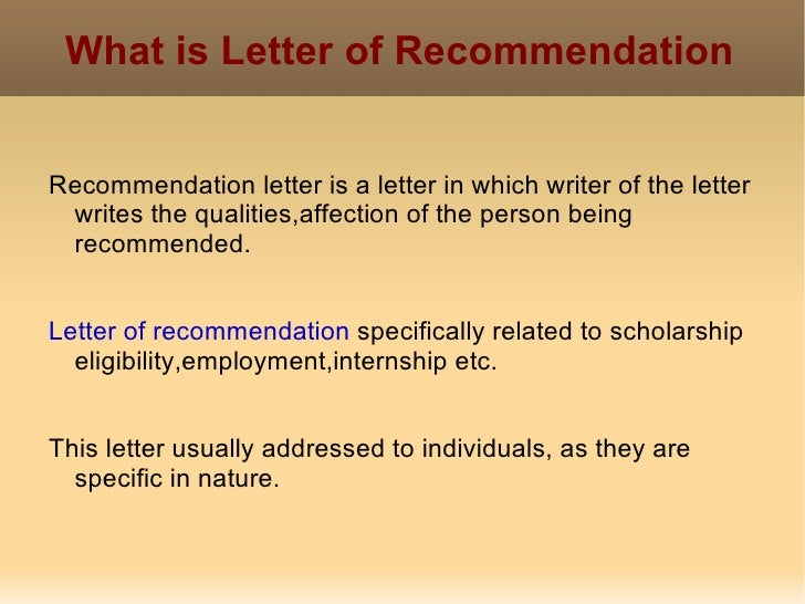 writing letters of recommendation for scholarships