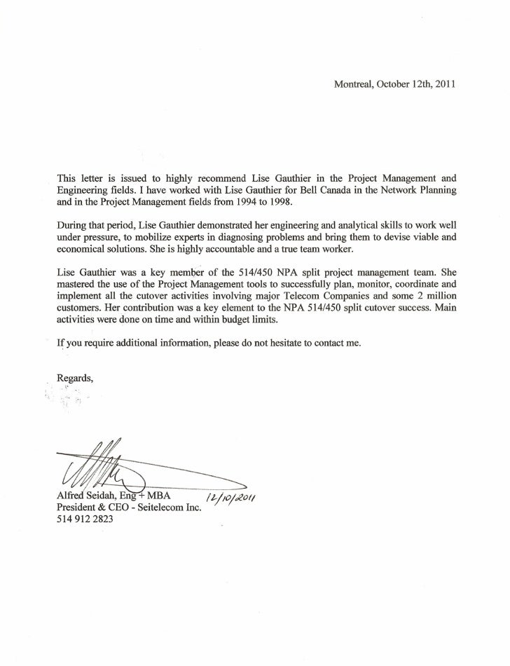 letter of recommend