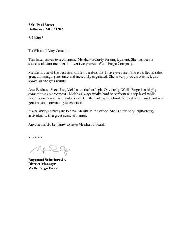 letter of recommendation raymond schreiner  district