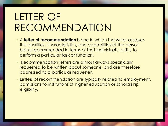 Free Letter of Reference Template   Recommendation Letter Template     LOR Service        Re  Letter of Recommendation