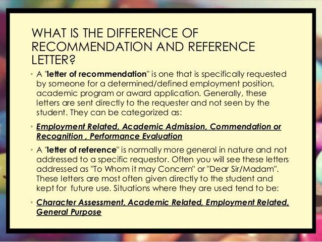 Reference letter vs recommendation letter dolapgnetband reference letter vs recommendation letter expocarfo