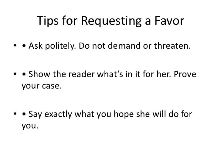 how to ask politely for something in email