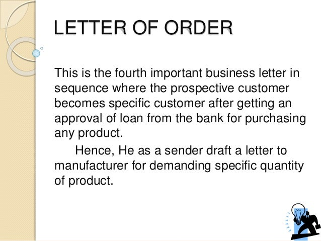 Letter Of Sale, Credit And Order