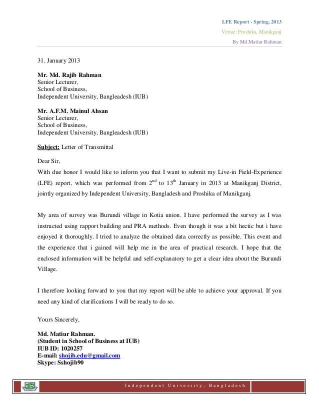 Letter of transmittal for a report alanscrapleftbehind letter spiritdancerdesigns Gallery