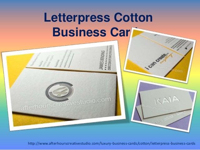 Buy Online Letterpress Cotton Business Cards Services