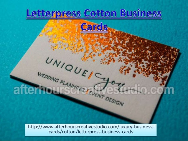 Top Quality Letterpress Cotton Business Cards At  Gsm Thick