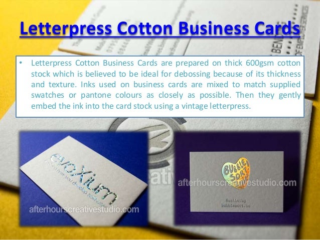 Top quality letterpress cotton business cards at 850 gsm thick cardscottonletterpress business cards 2 reheart Choice Image